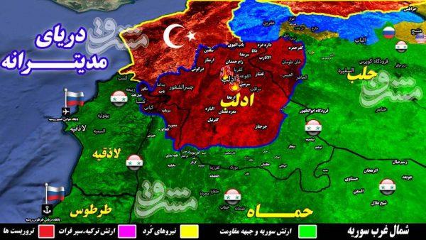 دستمزد آمریکاییها به تروریستها پس از یک اعتراض/ جزئیات حملات سنگین علیه مقر فرماندهان گروهکهای تروریستی در حومه شهر اشغالی ادلب + نقشه میدانی