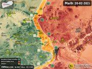 آخرین اخبار از جبهه مارب، ۲ اسفند ۹۹ + نقشه میدانی