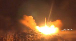 فیلمی از لحظه شلیک موشک «ذوالفقار» به سمت عمق خاک عربستان سعودی