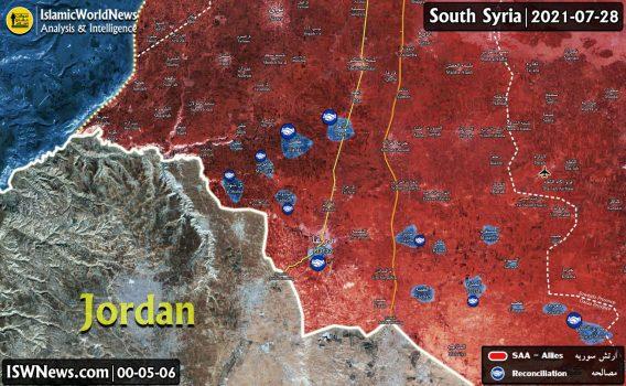 درگیری ارتش سوریه و مسلحین در محله درعا البلد در جنوب سوریه
